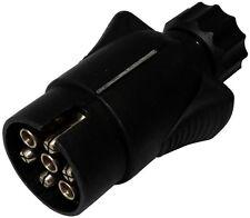 Fiche mâle 7pin prise connecteur de remorque 7 broches 12V 10mm C12373 attelage
