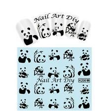 20 nail art water sticker transfers-TATTOO adesivi per unghie con PANDA !!!