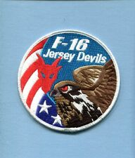 119th FS NEW JERSEY AIR GUARD USAF F-16 FALCON SWIRL Squadron Jacket Patch