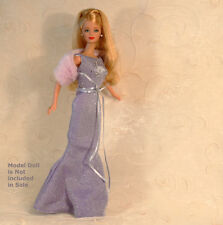 Lavender ZODIAC Taurus Mermaid Gown-Fur Wrap-Shoes NO DOLL