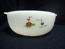 Vintage Fire King BC Comic Cereal Bowls Anchor Hocking Milk Glass Hart