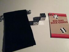 Metal Dice and games card and black pouch New