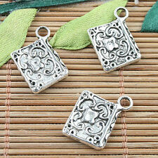 Alloy metal Tibetan Silver color book design charms 25pcs EF0081