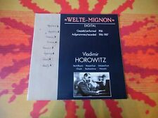 "♫♫♫ ""Welte-Mignon"" Digital - Horowitz * Recital ♫♫♫"