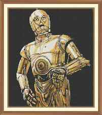 Threepio  - C-3PO CROSS STITCH CHART ONLY 10.6 x 12.0Inches