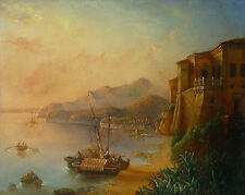 Romantische Küstenlandschaft - Anonym um 1850