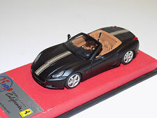 1/43 BBR Ferrari California matt black gold stripe Serie Speciale leather base