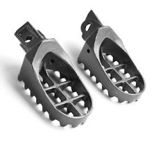 Gray Pair Steel Foot Pegs For Suzuki RM85  RM85L DR-Z125L DR-Z125 2003-2006
