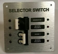 MARINE ELECTRICAL PANEL GENERATOR / SHORE POWER SELECTOR SWITCH