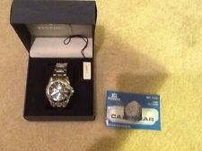 New w/Box Festina Mens Watch  Date Time Month Seconds 12/24 Hour Blue Face
