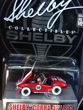 SHELBY COLLECTIBLES COBRA 427 S/C CHASE WHITE WHEELS 1:64 50 YEARS ANNIVERSARY