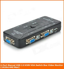 TechByte USB KVM Switch 4 Port With 4 USB KVM Cables