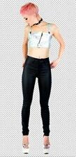 Lip Service 24 hrs Doll Face doll high waisted foil jeans pants goth gothic 25
