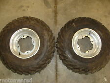 00 01 02 03 04 YAMAHA WARRIOR YFM 350 OEM FRONT WHEELS RIMS TIRES ATV 22X7-10