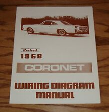 1968 Dodge Coronet Revised Wiring Diagram Manual 68