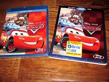 Cars: Owen Wilson; Disney (Blu-ray/DVD,2011, 2-Disc Set) New: Sealed+I Ship Fast