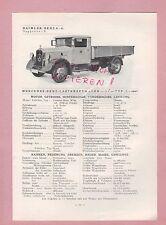 GAGGENAU Typentafel 1934 Daimler-Benz AG Mercedes LKW L o 2000, Omnibus L o 2000