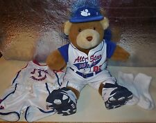 BUILD A BEAR WORKSHOP STUFF ANIMAL SPORT BASEBALL BASKETBALL COSTUME OUTFIT LOT