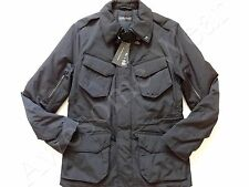 New Ralph Lauren Black Label Italy Made Poly Black Moto Jacket size SLIM M