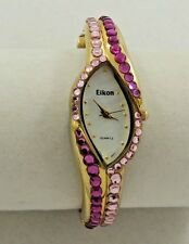 Beautiful Ladies Elkon Fuchsia & Pink RS GT Watch -Bangle Bracelet  New Battery