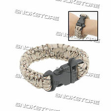 PARACORD WEAVE SURVIVAL BRACELET WITH WHISTLE BUCKLE SOPRAVVIVENZA CAMPING SOS