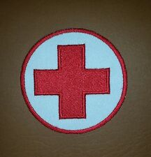 RED CROSS PARAMEDICS, EMBROIDERED Iron/ Sew on Patch/ Logo