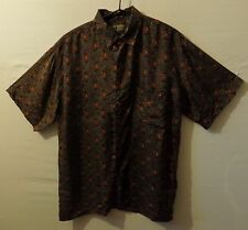 "ROBERT STOCK silk Hawaiian shirt  UK XL US L 48"" 122 cm XXT H203 Vintage"