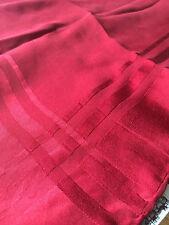 JAEGER Ladies VINTAGE Red 100% Silk Head scarf / Neck scarf