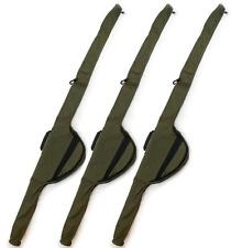 Set of 3 x NGT Single 12FT Green Padded Rod Holdall Sleeve Bags Carp Fishing