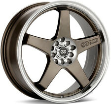 ENKEI EV5 BRONZE RIMS 17x7 +45 5x100 5x114.3 FITS: ACCORD MAZDA3 MX5 626 SPEED3