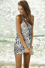 NWT PILYQ SzXS/S TANZANIA ARIA ZEBRA PRINT COVER UP DRESS IN MULTICOLOR $144.