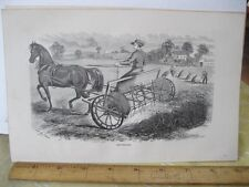 Vintage Print,HAY TEDDER,100 Years Progress,L.Stebbins,1870