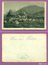 CDV Panoramique sur Sion en Suisse d'après peinture de R. DIKENMANN Réf A12