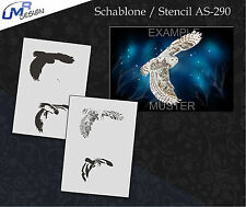 Step by Step Airbrush Stencil AS-290 M ~ Template ~ UMR-Design