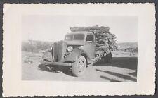 Vintage Photo 1935 1936 Ford Logging Truck 715614