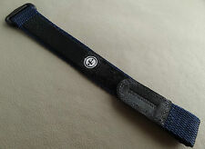 New 12-16mm Nylon & Velcro Timex Blue Fast Wrap Adjustable Expedition Watch Band