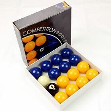"Competition Set 2"" Blue & Yellow Pool Balls"