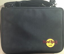 Hard Rock Cafe LARGE Black PIN Trading Storage BAG w/HRC Logo USED 5 2-Sided Pgs