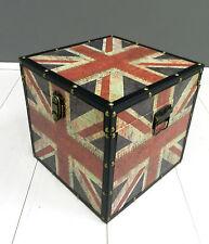 Baule,scatola,contenitore,Union Jack,bandiera inglese,in legno,grande.