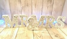 Mr and Mrs diamante wedding sign, white and sliver, wedding decoration