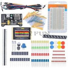 Electronic Fans Kit Starter Learn Kits Breadboard LED Cable Resistor Capacitor