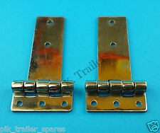 FREE P&P 2 x Stainless Steel Door Hinge Over Ramp Ifor Williams Horse Box C11155