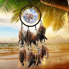 """Handmade Dream Catcher With Feathers Wall Hanging Decoration Ornament-Wolf 23.6"""""""