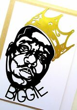 "BIGGIE SMALLS,notorious big,4""X 8½"" inches Hip-Hop,Clear vinyl decal sticker"