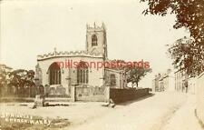REAL PHOTOGRAPHIC POSTCARD OF ST. NICOLAS' CHURCH, HAXEY, LINCOLNSHIRE