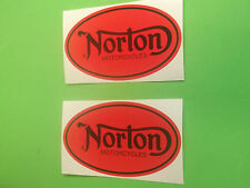 NORTON MOTORCYCLE VINTAGE STICKERS DECALS X2 cafe racer