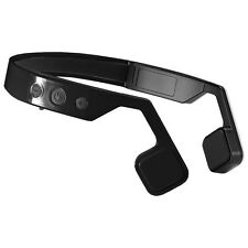 Bone Conduction Bluetooth Wireless Stereo Rechargeable Headset Black Headphones