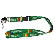 SENEGAL GREEN COUNTRY FLAG LANYARD KEYCHAIN PASSHOLDER .. NEW
