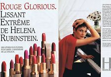 PUBLICITE ADVERTISING 045 1994 HELENA RUBINSTEIN rouge à lèvres (2 pages)