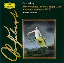 SCHUBERT: KLAVIERSONATE D 960 - MOMENTS MUSICAUX D 780, DANIEL BARENBOIM / CD